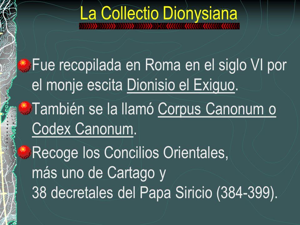 La Collectio Dionysiana