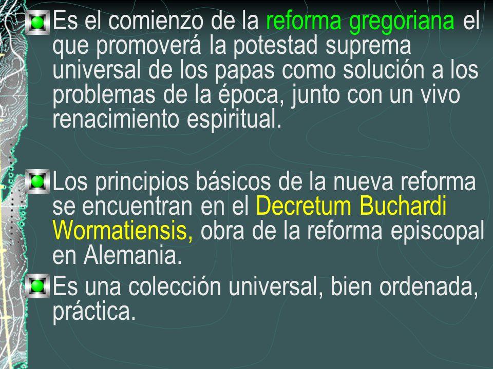 Es el comienzo de la reforma gregoriana el que promoverá la potestad suprema universal de los papas como solución a los problemas de la época, junto con un vivo renacimiento espiritual.