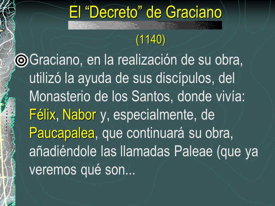 El Decreto de Graciano