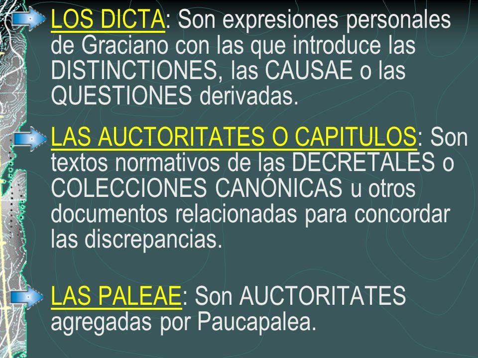 LAS PALEAE: Son AUCTORITATES agregadas por Paucapalea.