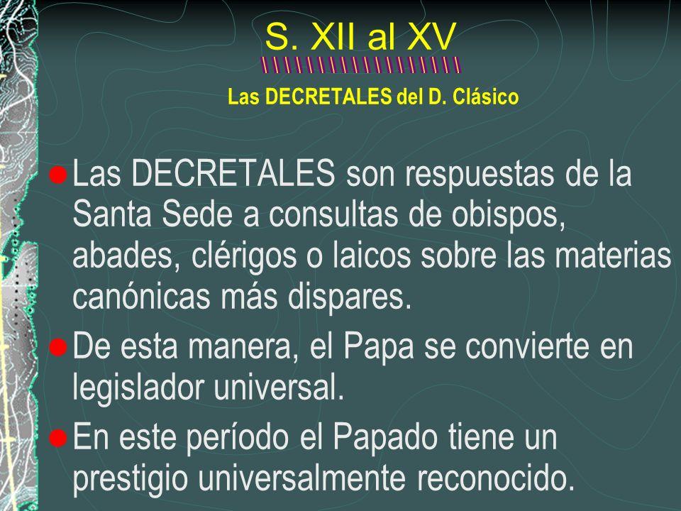 Las DECRETALES del D. Clásico