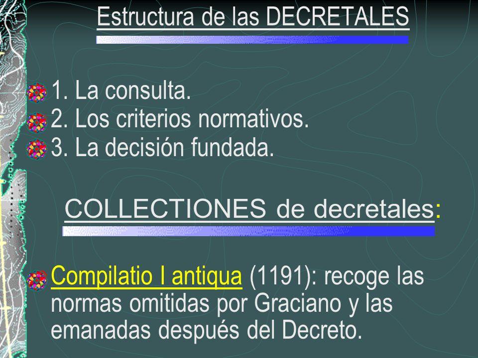 Estructura de las DECRETALES 1. La consulta.