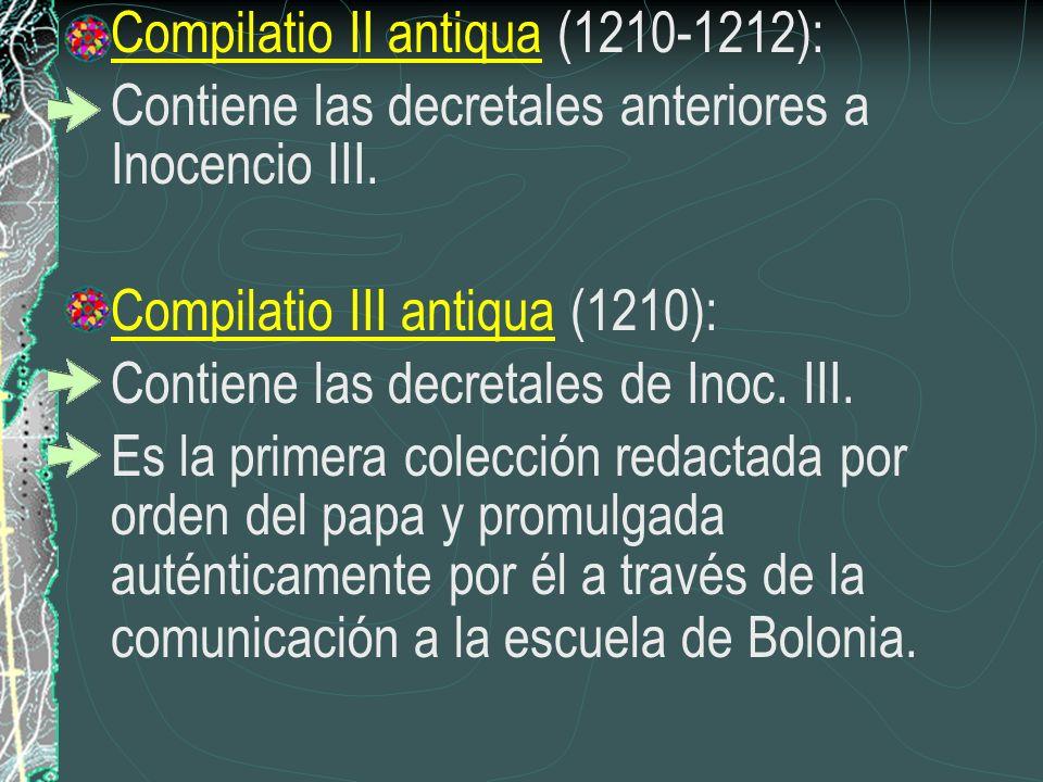 Compilatio II antiqua (1210-1212):