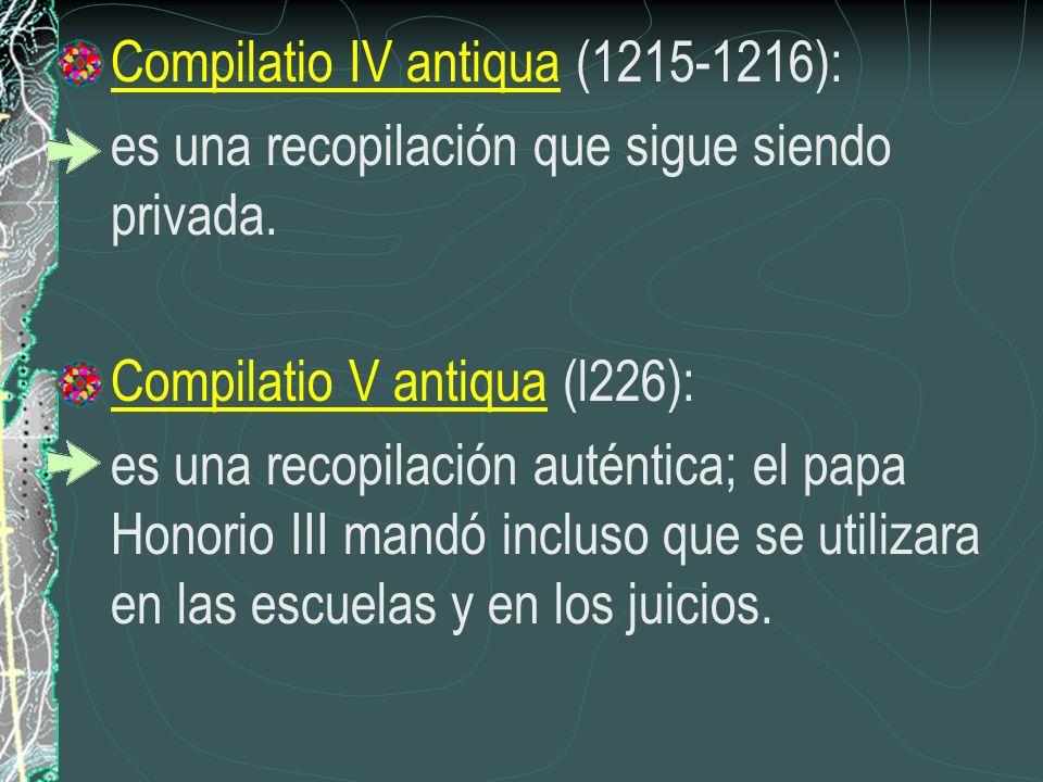 Compilatio IV antiqua (1215-1216):