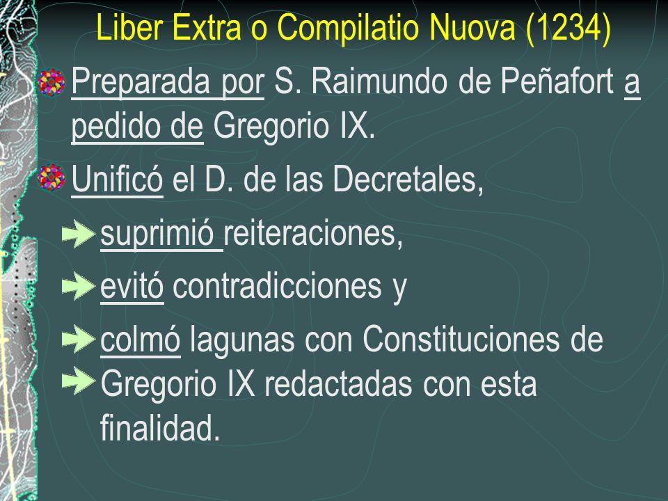 Liber Extra o Compilatio Nuova (1234)