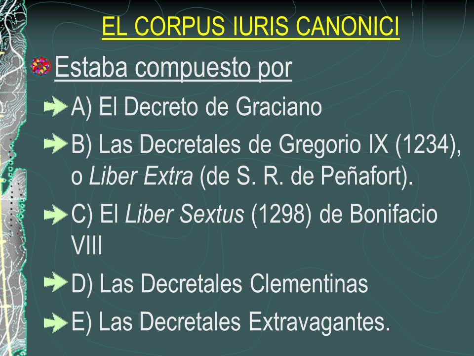 EL CORPUS IURIS CANONICI