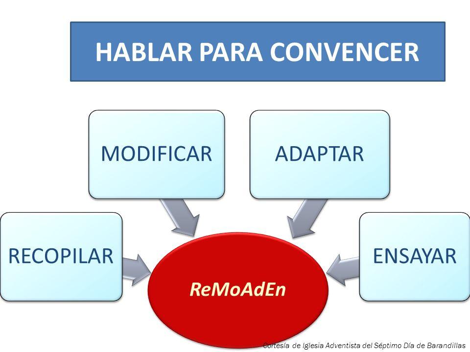 HABLAR PARA CONVENCER ENSAYAR ADAPTAR MODIFICAR RECOPILAR ReMoAdEn