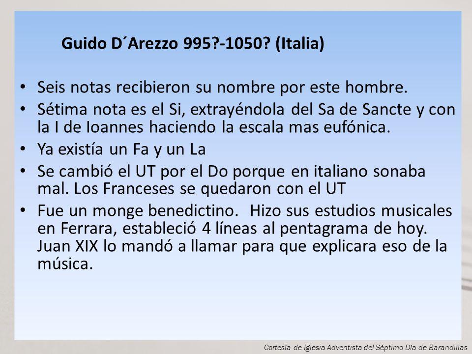 Guido D´Arezzo 995 -1050 (Italia)