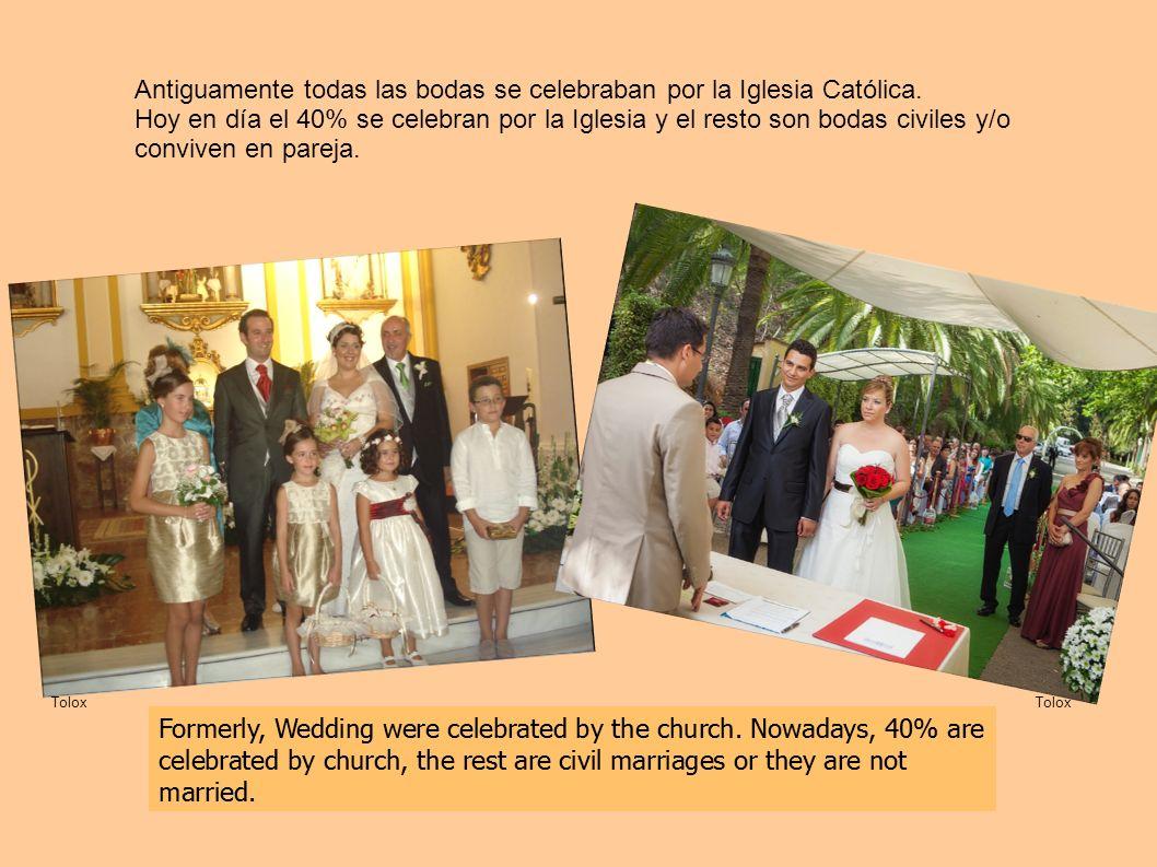 Antiguamente todas las bodas se celebraban por la Iglesia Católica.