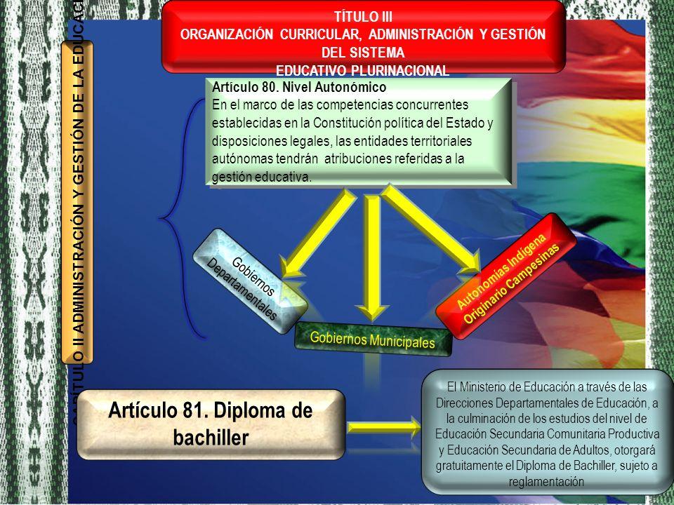 EDUCATIVO PLURINACIONAL Autonomías Indígena Originario Campesinas