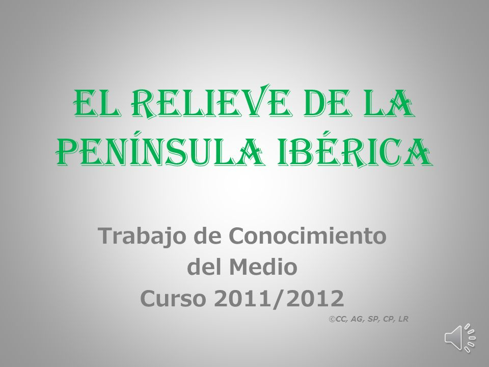 El Relieve de la Península Ibérica