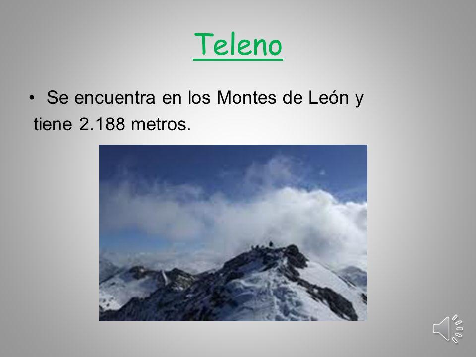 Teleno Se encuentra en los Montes de León y tiene 2.188 metros.