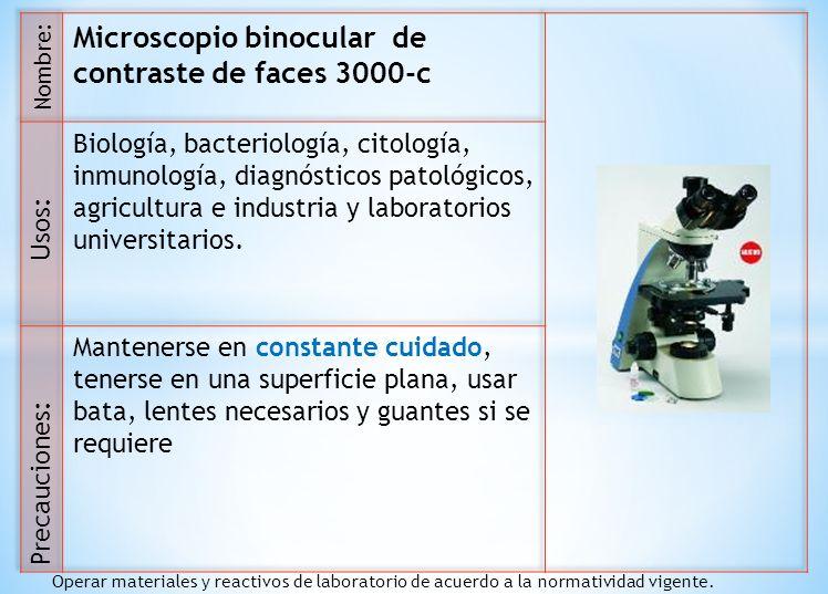Microscopio binocular de contraste de faces 3000-c