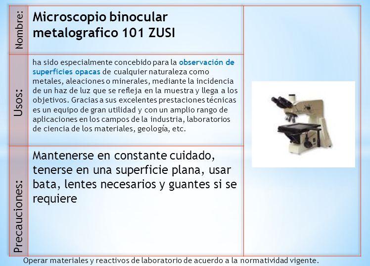 Microscopio binocular metalografico 101 ZUSI