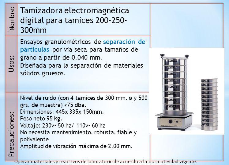 Tamizadora electromagnética digital para tamices 200-250-300mm