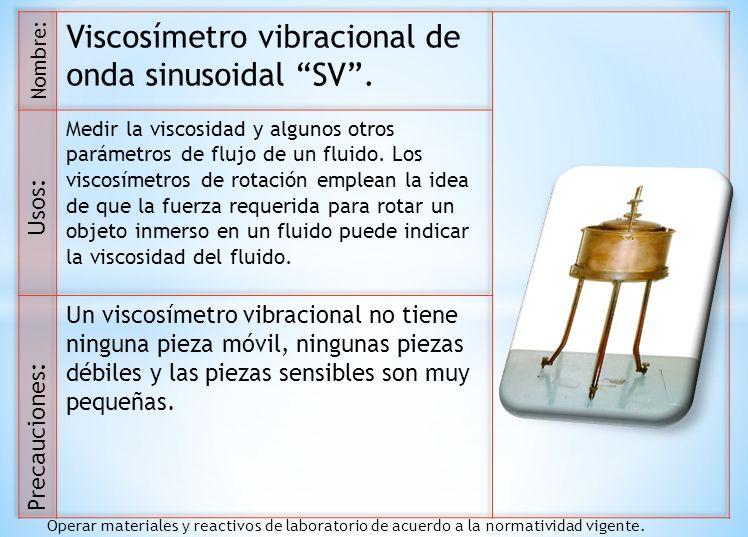 Viscosímetro vibracional de onda sinusoidal SV .