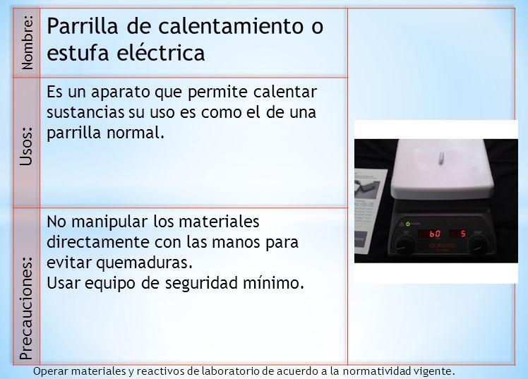 Parrilla de calentamiento o estufa eléctrica