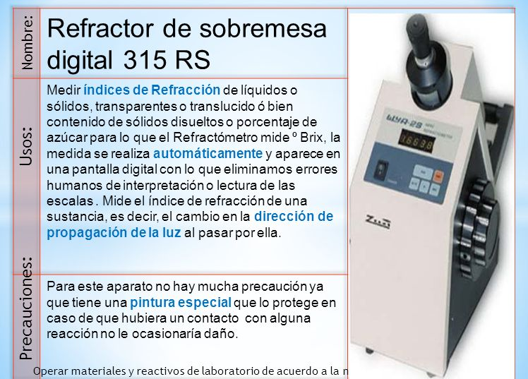 Refractor de sobremesa digital 315 RS
