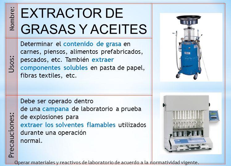 EXTRACTOR DE GRASAS Y ACEITES