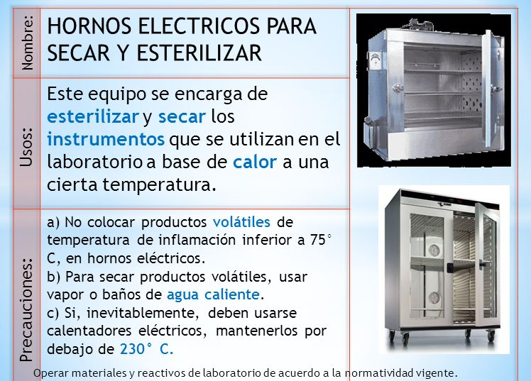 HORNOS ELECTRICOS PARA SECAR Y ESTERILIZAR