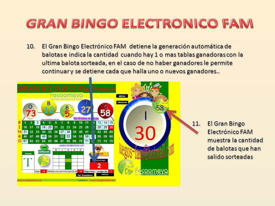 GRAN BINGO ELECTRONICO FAM
