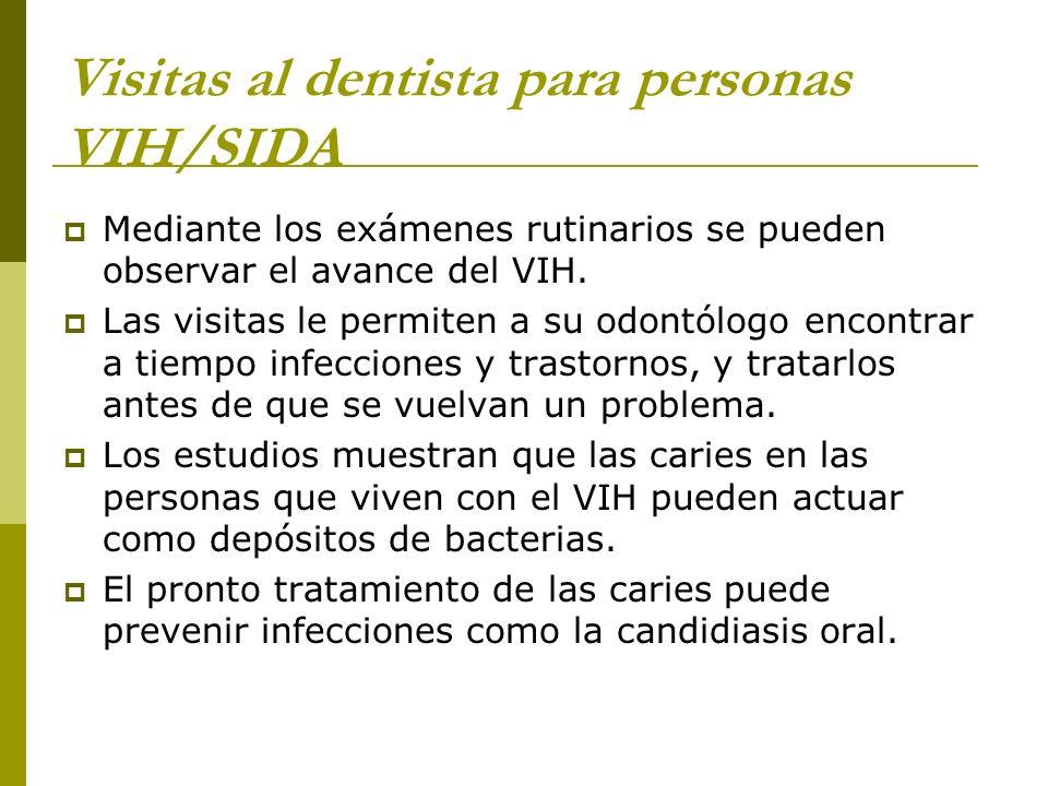 Visitas al dentista para personas VIH/SIDA