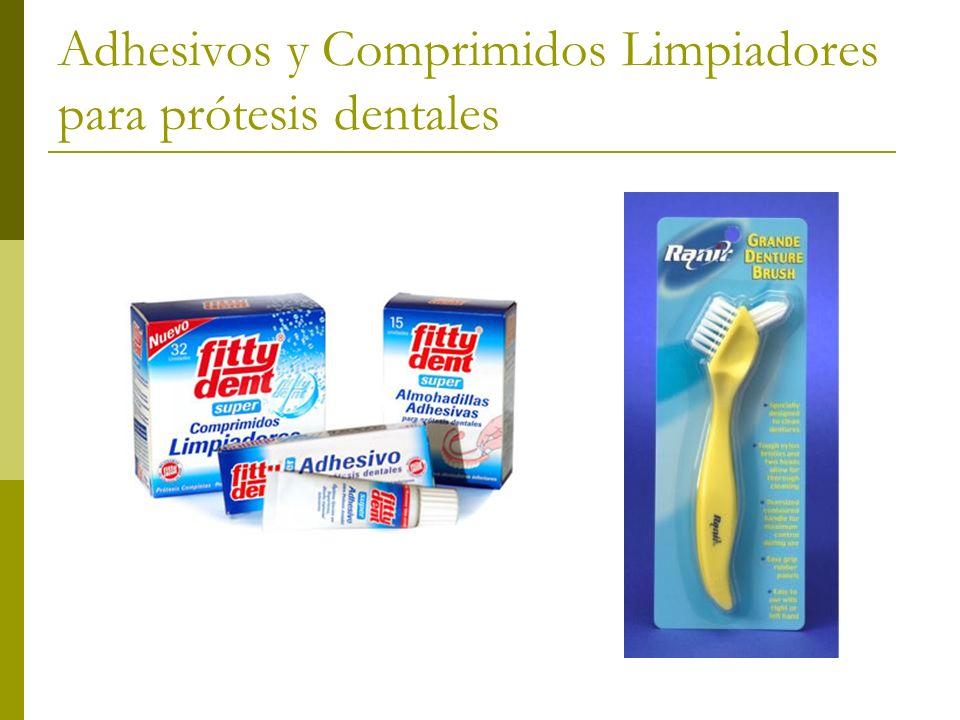 Adhesivos y Comprimidos Limpiadores para prótesis dentales