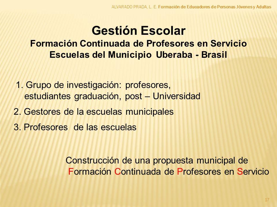 Formación Continuada de Profesores en Servicio