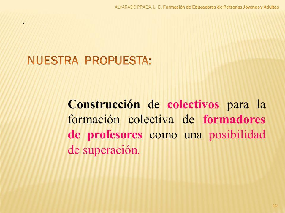ALVARADO PRADA, L. E. Formación de Educadores de Personas Jóvenes y Adultas