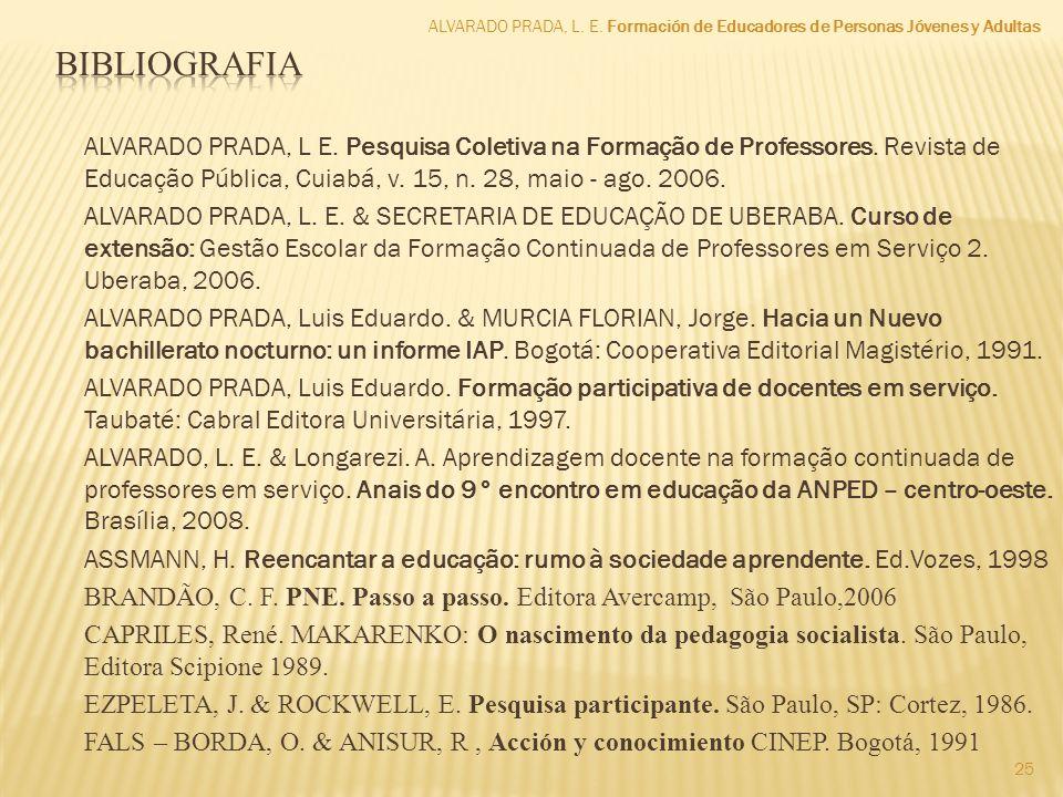 ALVARADO PRADA, L. E. Formación de Educadores de Personas Jóvenes y Adultas.