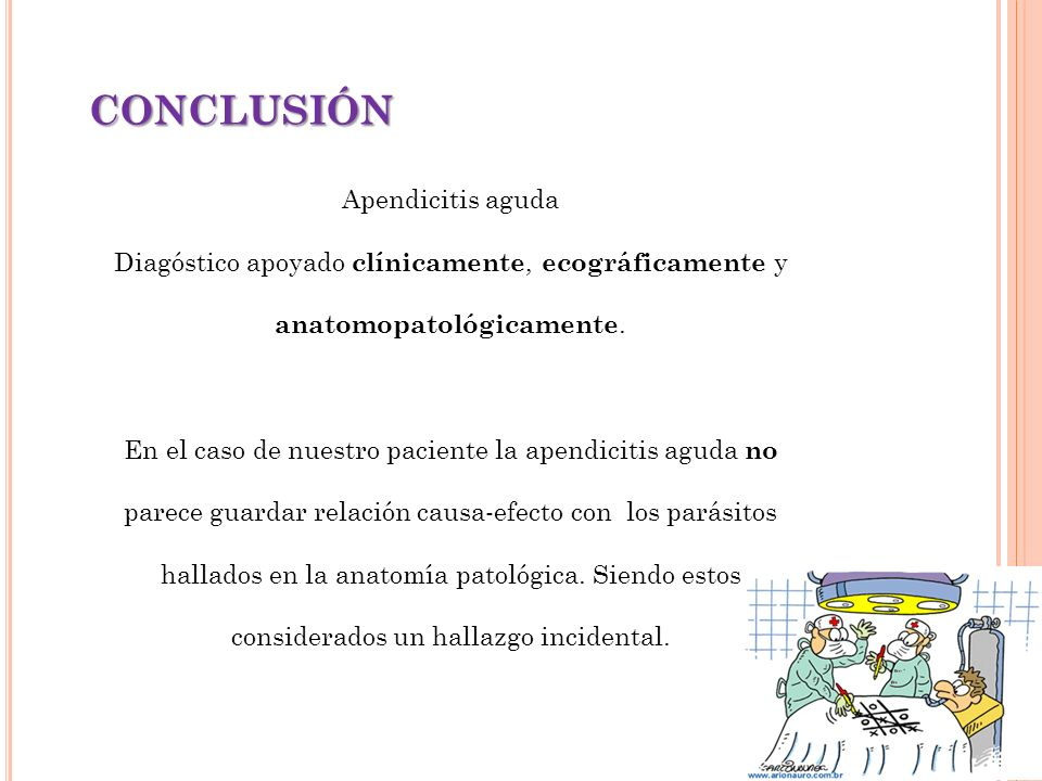 CONCLUSIÓN Apendicitis aguda
