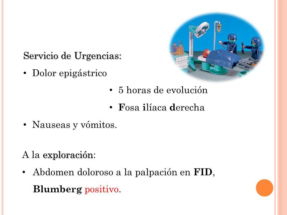 Servicio de Urgencias: