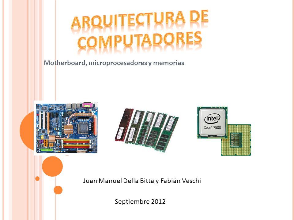 Motherboard, microprocesadores y memorias