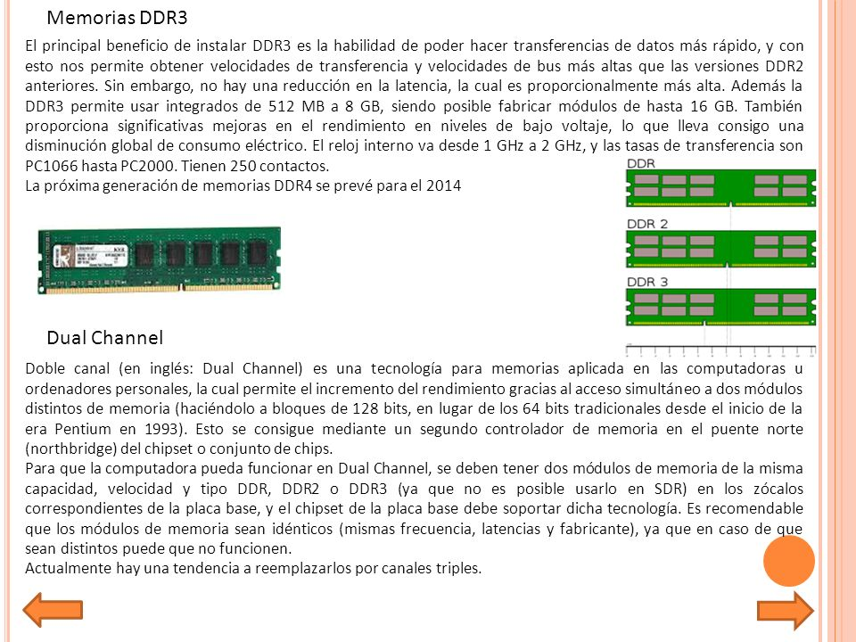 Memorias DDR3 Dual Channel