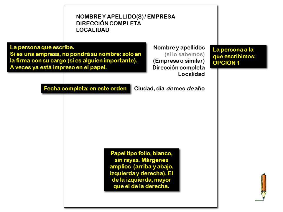 NOMBRE Y APELLIDO(S) / EMPRESA