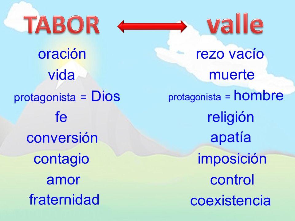 TABOR valle oración rezo vacío vida muerte fe religión conversión