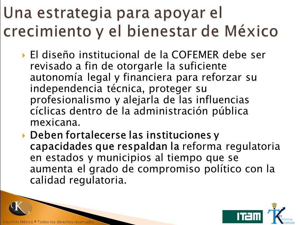 Una estrategia para apoyar el crecimiento y el bienestar de México