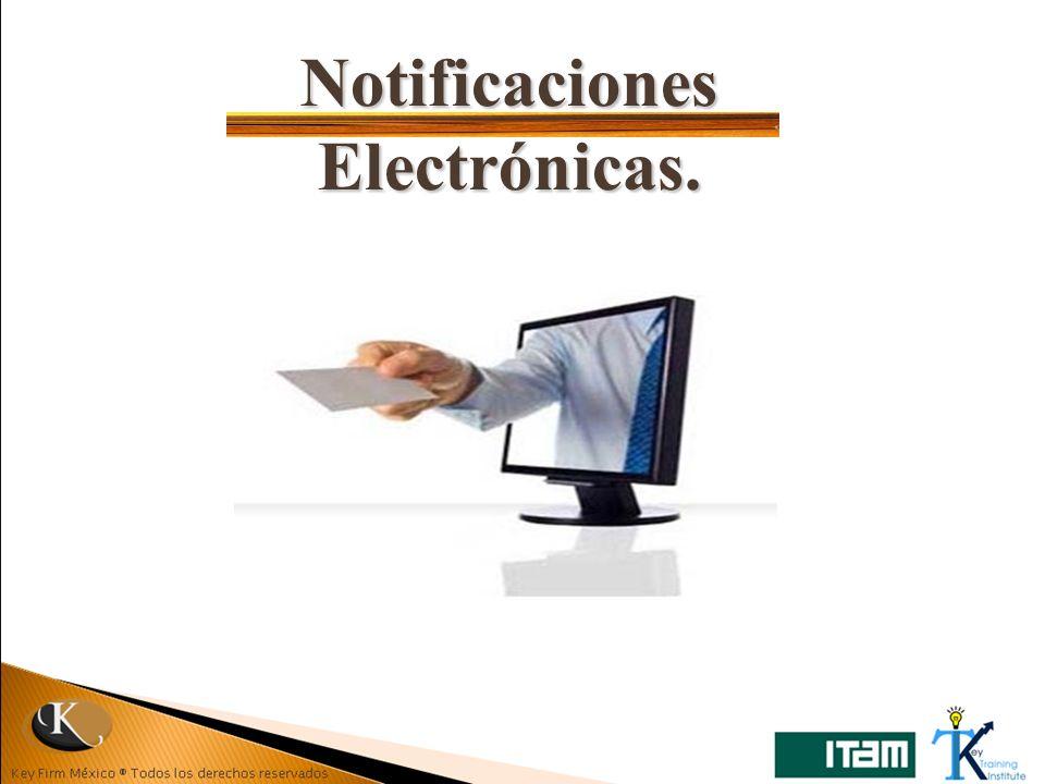 Notificaciones Electrónicas.