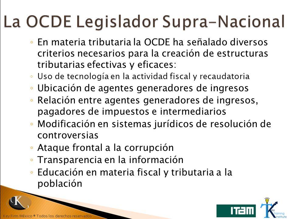 La OCDE Legislador Supra-Nacional
