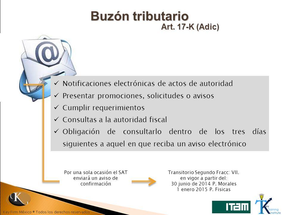 Buzón tributario Art. 17-K (Adic)