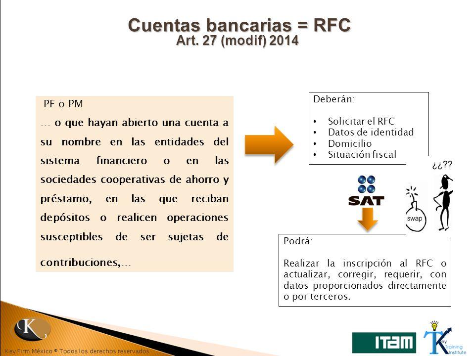 Cuentas bancarias = RFC