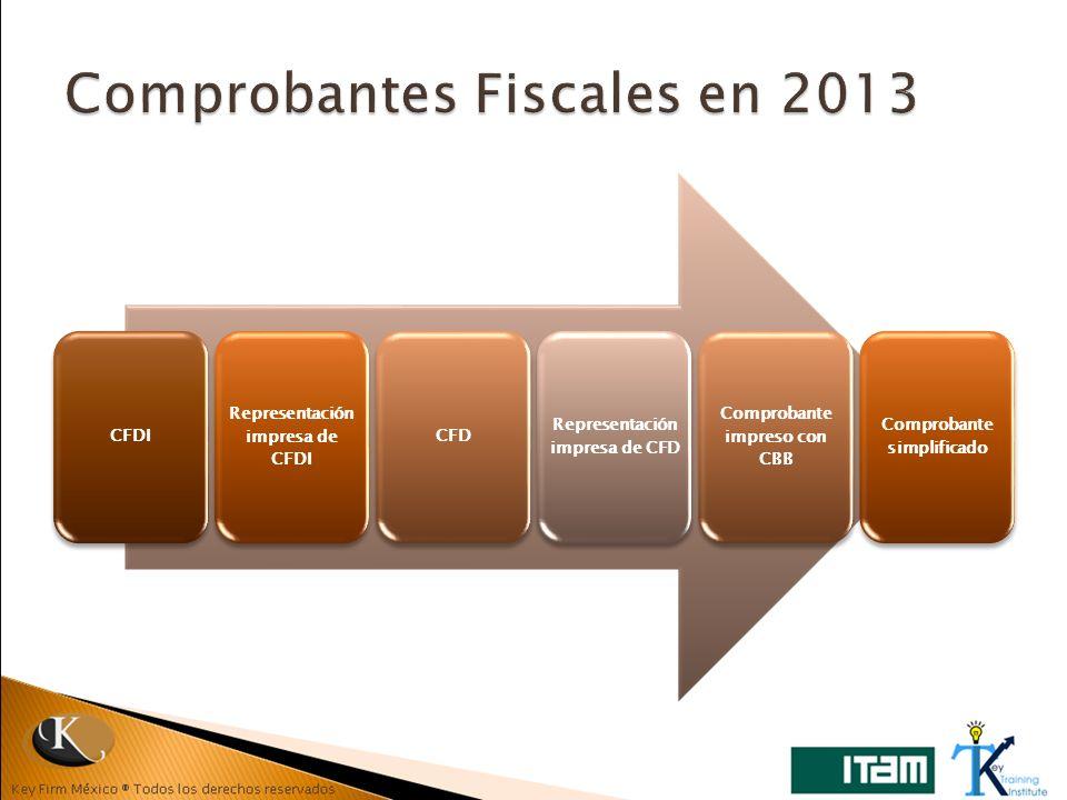 Comprobantes Fiscales en 2013