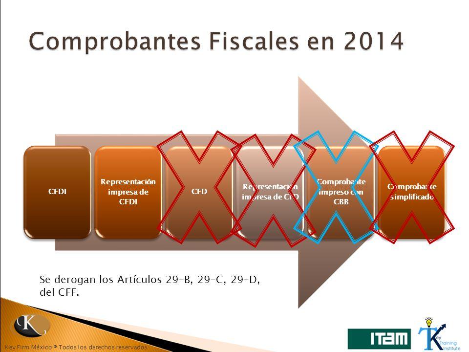 Comprobantes Fiscales en 2014