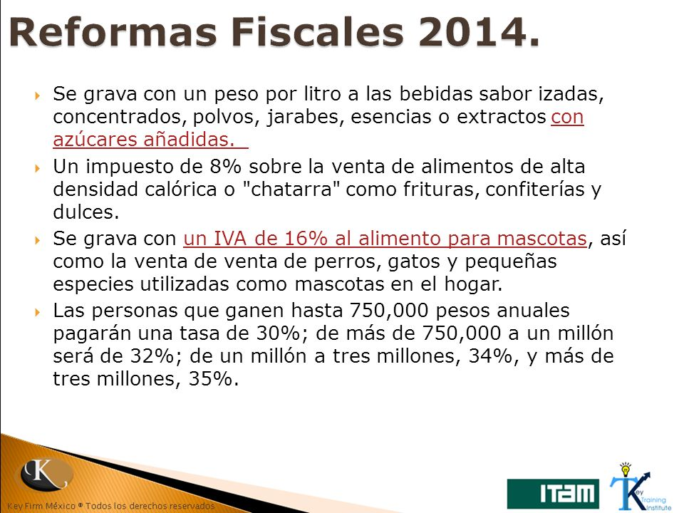 Reformas Fiscales 2014.