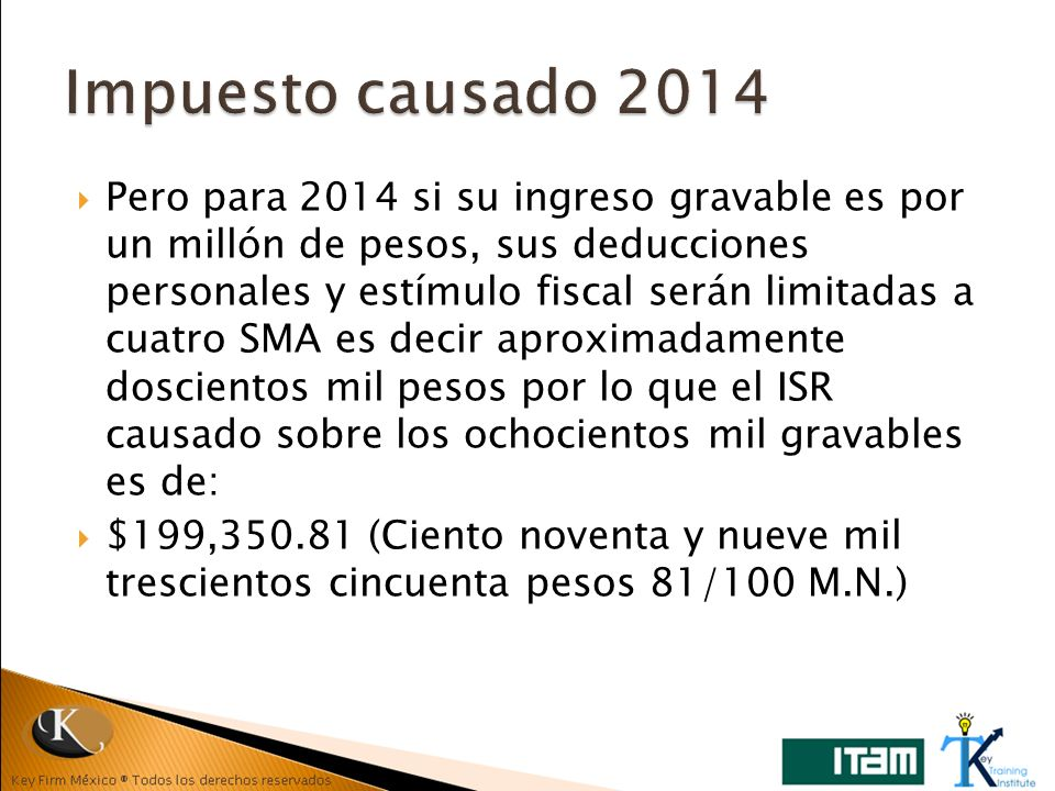 Impuesto causado 2014
