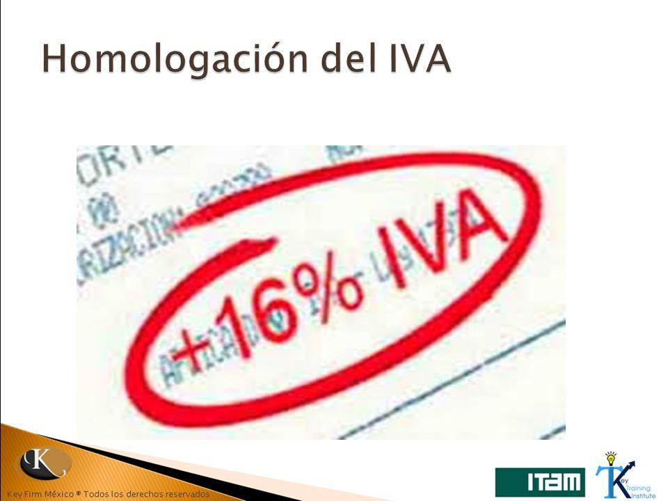 Homologación del IVA
