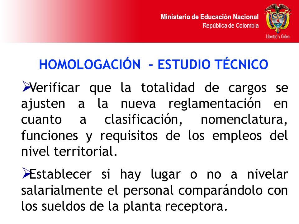 HOMOLOGACIÓN - ESTUDIO TÉCNICO