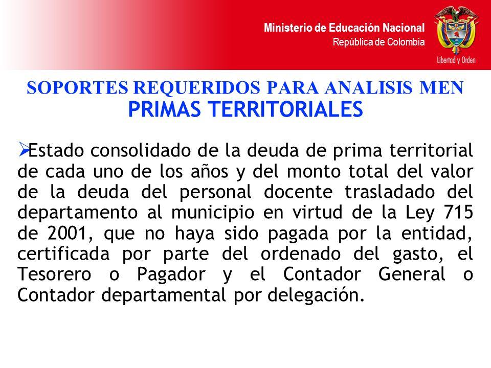 SOPORTES REQUERIDOS PARA ANALISIS MEN PRIMAS TERRITORIALES