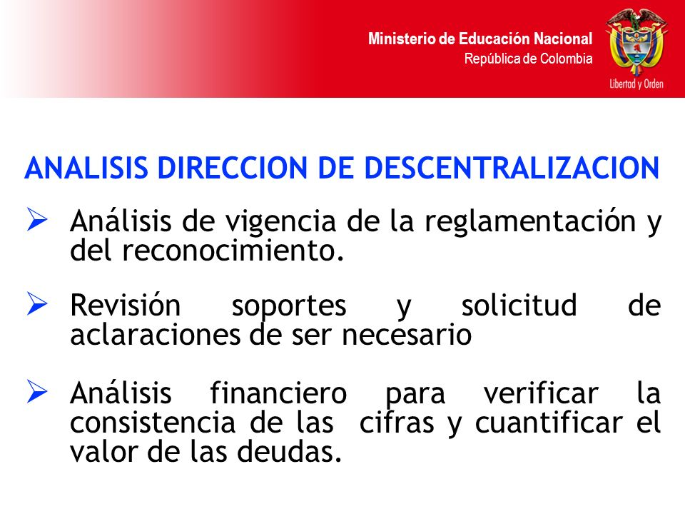 ANALISIS DIRECCION DE DESCENTRALIZACION