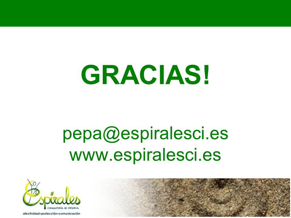 GRACIAS! pepa@espiralesci.es www.espiralesci.es